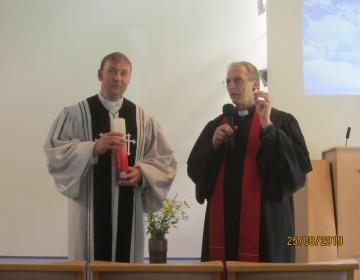Vanempastor Ardi Leerima ja kaaspastor Tõnu Kuusemaa