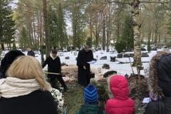 Gennadi Kallervo Ivanovi ärasaatmine Pärnu Agape kirikust Pärnu Metsakalmistule